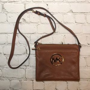 NEW Michael Kors leather Fulton cross body purse